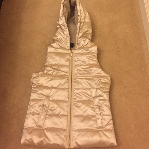 Zella Girl Jackets & Blazers - Gold vest with hood