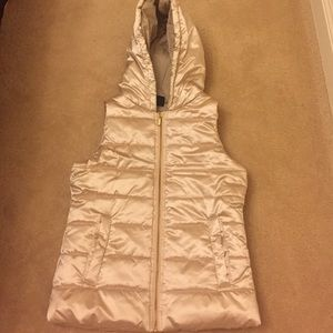 Zella Girl Jackets & Coats - Gold vest with hood