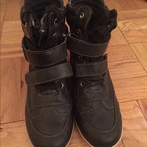 MIA Shoes - Mia high top wedge sneakers