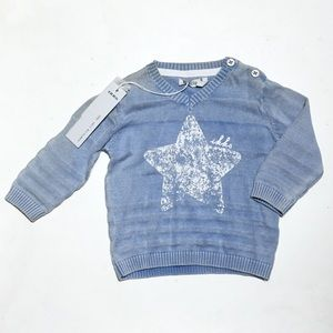 Ikks Other - 🎉HP🎉 French Boutique IKKS blue star sweater