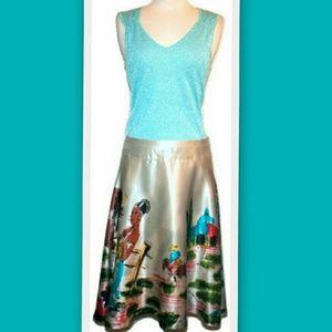 Custo Barcelona Dresses & Skirts - Custo Barcelona Juk Veracruz Silk Skirt