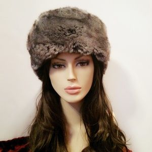 IMPOSTER Faux Fur Accessories - IMPOSTER Faux Fur Russian Hat, Slate - Made in NYC