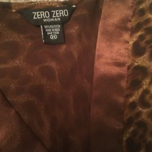 ZERO ZERO Woman Tops - Animal Print Tunic With Satin Trim