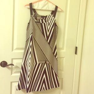 Black White stripe Dress size 4