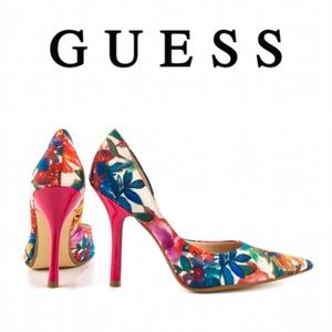"Guess Shoes - Guess • Floral ""Carrie 10"" Pump"