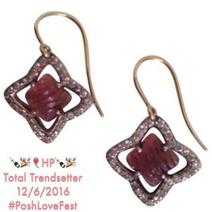 David Yurman Jewelry - [David Yurman] Pink Tourmaline & Diamond Earrings