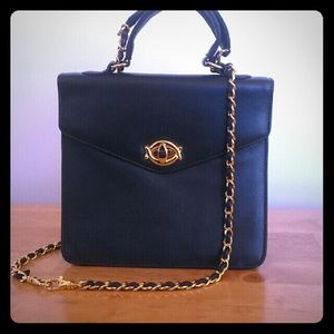 Giani Bernini Handbags - Giani Bernini Blue Leather w/ Gold Chain Strap