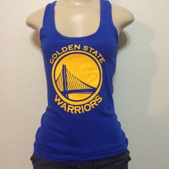 dbe69a8314f776 New Women s Golden State Warriors Blue Tank Top