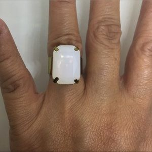 Jewelry - Open Cuff Statement Ring in White Opal