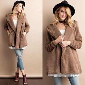 Jackets & Blazers - ❤HP❤Soft Faux Fur Jacket- MOCHA