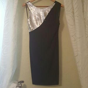 Black and sequin dress