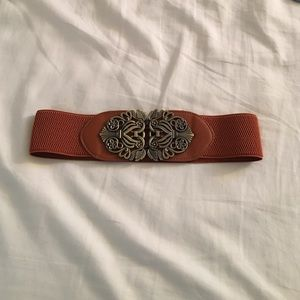 Accessories - Brown and gold belt