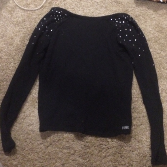 PINK Victoria's Secret Sweaters - black low back bling sweater