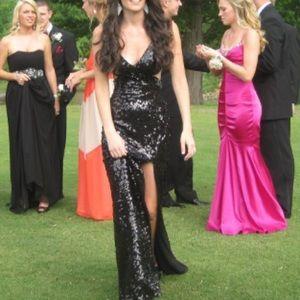 Mori Lee Dresses & Skirts - Mori Lee Sequined, black, prom dress