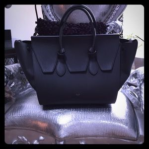 Celine grainy leather grey knot bag