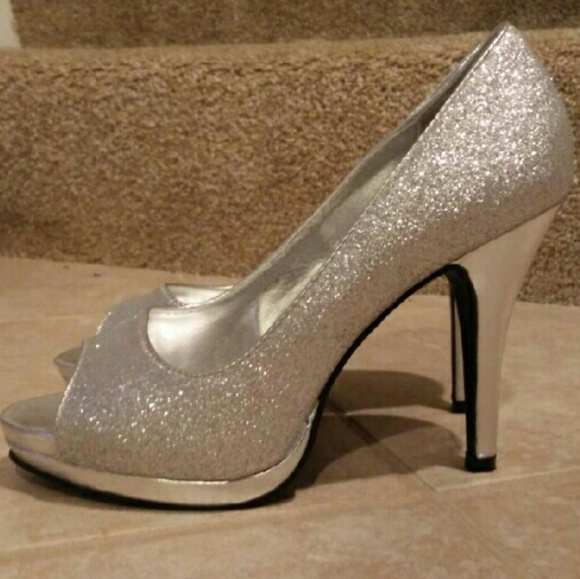 60 off rampage shoes sparkly silver opentoe heels from