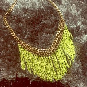 Neon yellow tropical necklace ✨