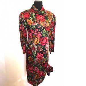 Vintage Dresses & Skirts - Gorgeous vintage 100% silk dress