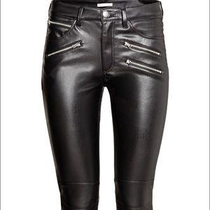 Brand New H&M Imitation Leather Biker Pants