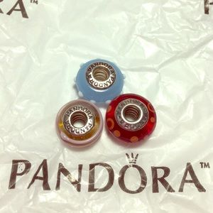 Pandora Jewelry - 💟VINTAGE PANDORA PINK SWIRL MURANO💟