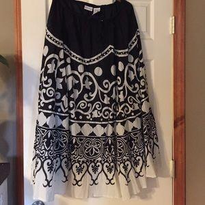 Print Cotton drawstring Maxi Skirt 12-14 Sequins
