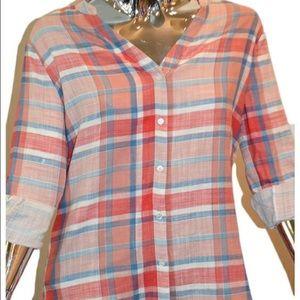 Joie red flannel Dane shirt