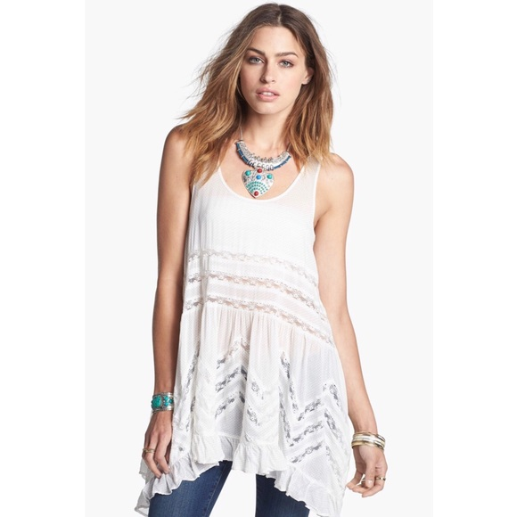 233aefaa1abf Free People Tops - Free People swingy lace insert tunic