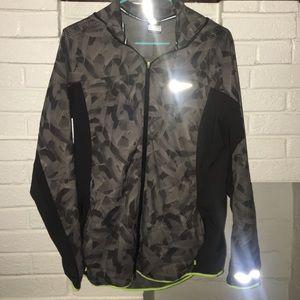 Nike running gray wind jacket