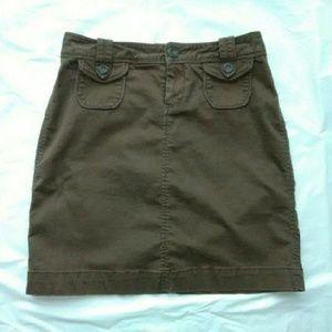 Old Navy Brown Khaki Skirt