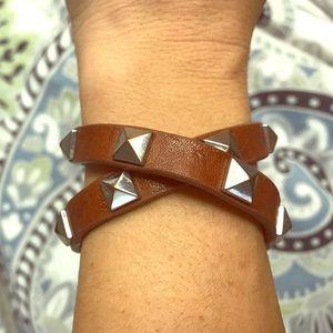Stella and dot leather wrap bracelet.
