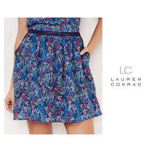 LC Lauren Conrad Dresses & Skirts - SALE LC Lauren Conrad Blue Floral Skirt XS NWT
