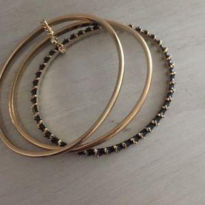 Gold and Black Bangels
