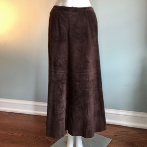 Chico's Dresses & Skirts - Chico's Brown Suede Skirt