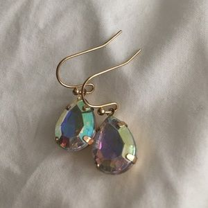 Gorgeous multi-colored teardrop earrings