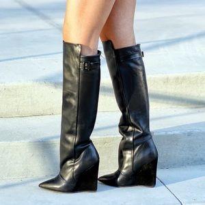 Steve Madden Shoes - Zylonn Leather Wedge Boot