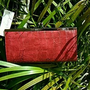 Gunne Sax  Bags - Red Leather Clutch Purse with Chain