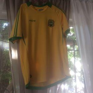 Tops - Mitre International Soccer Futbol Brazil Jersey