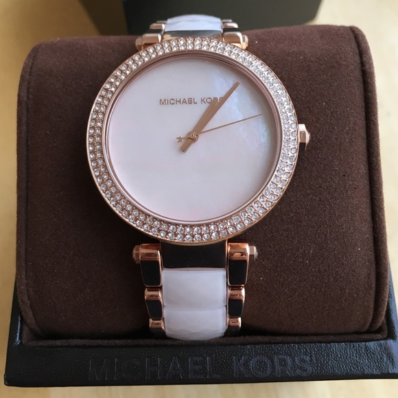 def0bd807fc5 Michael Kors Parker two tone watch ML6402 NWTIB