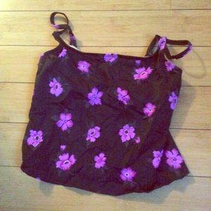 Other - Purple Flower Tankini Top 🌸