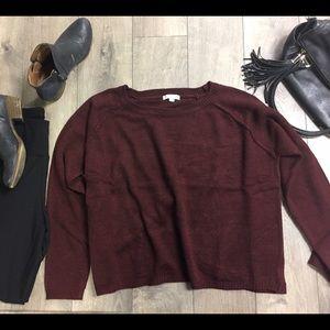 1 hr flash Sale....New burgundy sweater