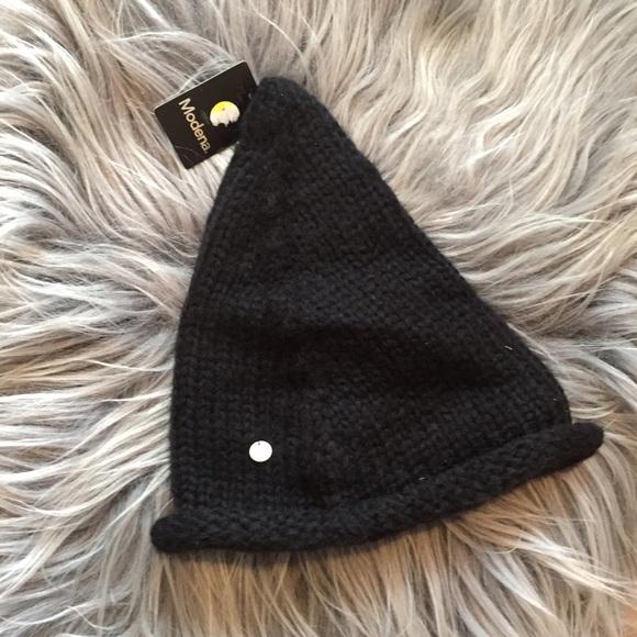 305efb48cc1 modena black beanie hat winter cap