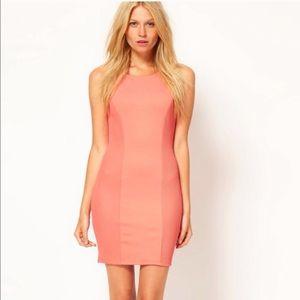 Brand New ASOS Coral Bodycon Dress