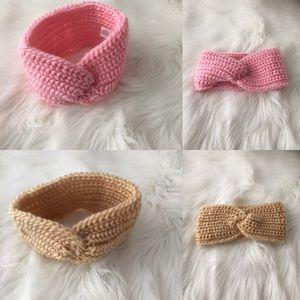 Other - Pink or Tan Headband Ear Warmers