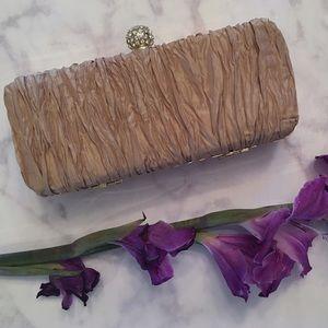Cache Handbags - Gold Cache Evening Clutch