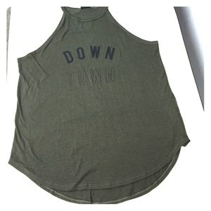 Army green muscle tank! Size Large!