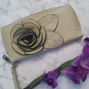 Handbags - Camel Rose Wristlet