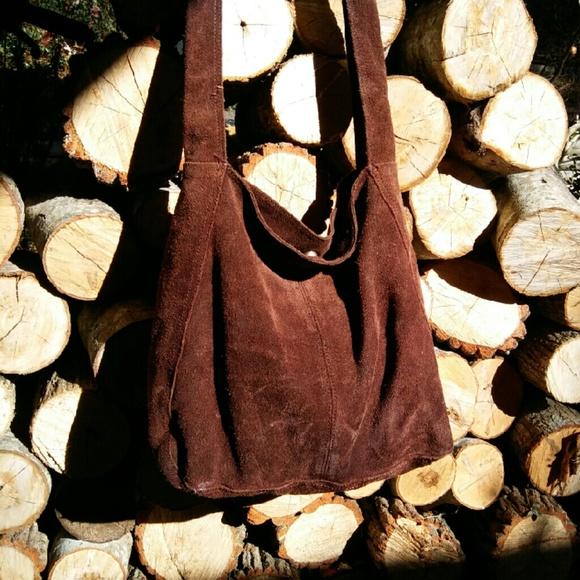 Vintage Bags - SUEDE Hobo Bag