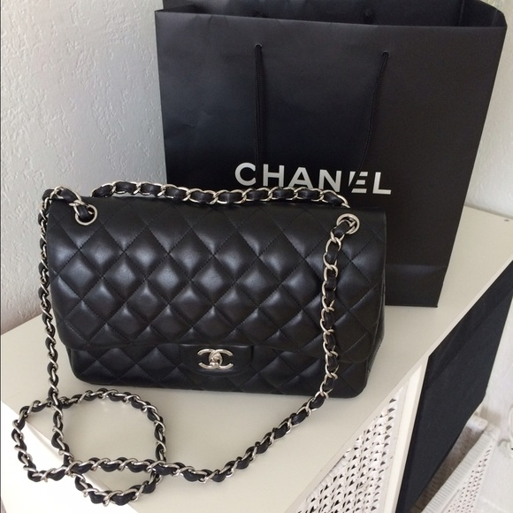 24% off CHANEL Handbags - Chanel Jumbo Double Flap Bag ...