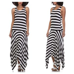 Dresses & Skirts - CLEARANCE!! Striped Asymmetrical Maxi Dress
