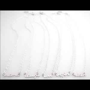 Jessica Elliot Jewelry - Mini Word Pendant 💝